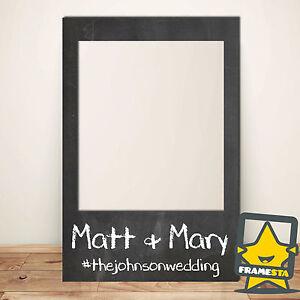 Blackboard Effect Wedding Photo Props (60 x 90 cm) Instagram Frame