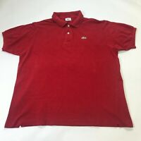 LACOSTE MENS LOSE FIT RED POLO SHIRT SIZE XL (L227)