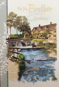 BROTHER TRADITIONAL COUNTRY SCENE BIRTHDAY CARD
