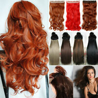 """US 17-30"""" Long Clip in Full Head hair Extensions as remy human One Piece hair LK"""