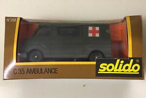 SOLIDO, Ambulance Military Citroen C35 , Model Number 259 Mint In Box