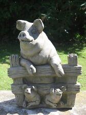 Dragonstone Pig With Piglets Garden Statue