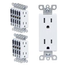 [10 PACK] SURGERITE Decora Receptacle Outlet 15AMP 125V Tamper Resistant White