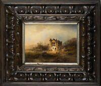 N.VON ASTUDIN(*1847), Landschaft bei Gondorf an der Mosel, Öl auf Holz
