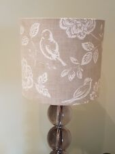 DRUM FABRIC LAMPSHADE 20cm Iliv BIRD GARDEN CANVAS Country Cottage Farm Floral
