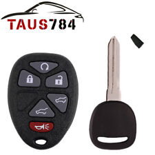 New Replacement Keyless Entry Remote Car Fob for 15913427 + Key