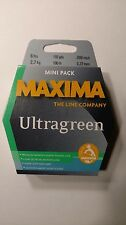maxima ultragreen mini pack 6#,110 yds. New Unopened