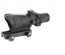 Rifle Scope Optic Sight Airsoft ACOG 1X30 Airsoft Scope Real Red Fiber Riflescop