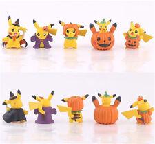 Pikachu Halloween Key Chain Pokemon Pocket Monster Ring Figur Figuren 5pcs NB