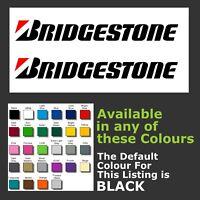 Bridgestone tyres Logo sticker/decals For Windows, Car Door Etc.. x 2