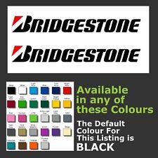 Adhesivo con el logotipo de los neumáticos Bridgestone/calcomanías para Windows, puerta de automóvil, etc. X 2