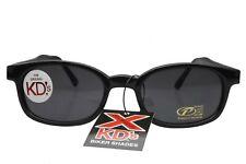 X KD's Sunglasses Original Biker Shades Motorcycle Black Gray 1010