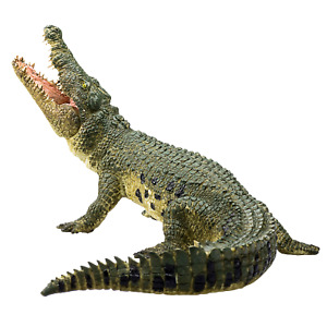 Mojo NILE CROCODILE MOVING JAW Wild zoo animals play model figure toys plastic