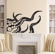 Octopus Wall Decals Tentacles Decal Nautical Vinyl Sticker Bathroom Decor X23