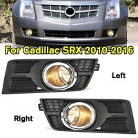 Front Bumper Fog Lamps Driving Lights & Covers For Cadillac SRX 2010-2016  V