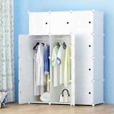 12 Cube DIY Plastic Wardrobe Cupboard Closet Cabinet Organizer Storage Furniture