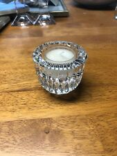 Waterford Cut Crystal Anya Votive Tea Light Candle Holder - Used