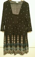 SALE Crossroads Black/Blue Floral Stretch Dress size XXL Pre-owned