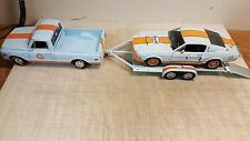 ACME 1:18  GULF 1968 CHEVROLET C10 PICKUP GMP GULF TRAILER &  SHELBY - IN STOCK