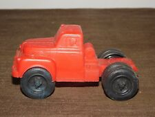 "VINTAGE TOY 5 1/4"" LONG PLASTIC AUBURN TRUCK TRACTOR"