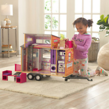 NEW KidKraft Teeny House Transportable Dollhouse Caravan Camper Barbie 65948