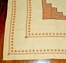 EMBROIDERED TABLECLOTH 33.5 INCHES SQUARE