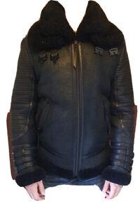 Boda Skins Luxury Shearling Lederjacke schwarz L
