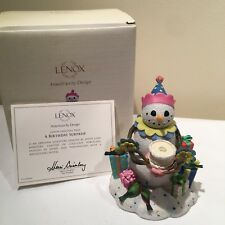 Lenox Christmas Winter Figurine A Birthday Surprise Clown Presents Cake Candle