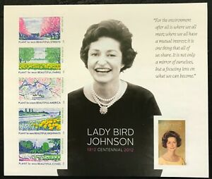 2012 Scott #4716 - Forever - LADY BIRD JOHNSON - Sheet of 6 Stamps - Mint NH