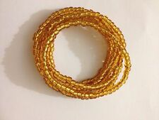 Beautiful Gold glass seed bead stretch bracelets multi strand