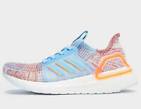 Adidas Ultra Boost 19 Women's ® (Sizes UK: 6 & 8 ) Glow Blue / Hi-Res Coral NEW
