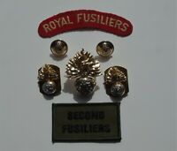 Royal Regiment of Fusiliers Cap/Collar Badges/Buttons Shoulder Title & TRF