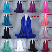Fashion Women Lady Long Plain Polyester Neck Scarf Scarves Wrap Soft Stole Shawl