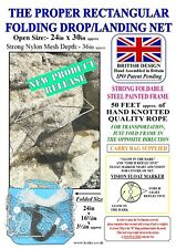"SEA FOLDING DROP NET Ex. Large 24"" x 30"" Strong & Designed and Assembled in UK."