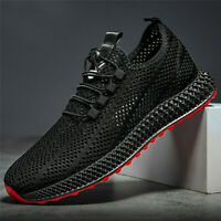 Men Breathable Monolayer Mesh Sports Sneakers Knit Sports Athletic Shoes Outdoor