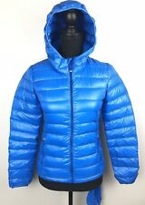 Aritzia TNA blue light weight puffer down coat jacket bright blue xxsmall B1206