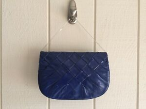 New 80s style Colbalt Blue Patton Leather Purse