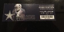 Dallas Cowboys Vs Atlanta Falcons Ticket Stub 9-27-2015 AT&T Stadium Sean Lee