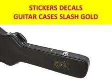SLASH GUNS N'ROSES GOLD STICKER GUITAR CASES VISIT MY STORE FOR CUSTOM GUITARS