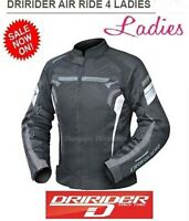 NEW! Dririder AIR RIDE 4 Womens Motorcycle Jacket Ladies Female Vented Summer