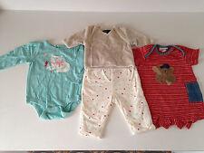 4 pc baby wholesale mix clothes lot,boys mix 3-6 mon unisex pre-owned.