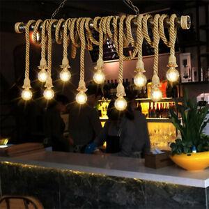1Meter E27 Industrial Pendant Lamp Double Head Retro Vintage Rope Ceiling Light