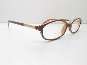 Gucci EYEGLASSES FRAMES 49-16-135 Brown Oval Designer 12982