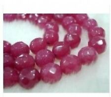 10mm Brazil Faceted Red Ruby Round Loose Beads Gemston
