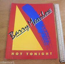1978 Barry Manilow 1983 Hot Tonight concert tour program TOUGH!