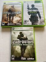 Call Of Duty Modern Warfare Trilogy Xbox 360 Lot CIB Complete Tested 2 3 4 MW2