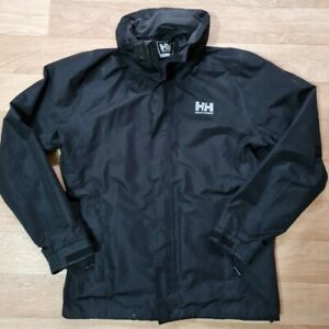 Mens black Helly Hansen waterproof hooded coat. Size M. Helly Tech Protection