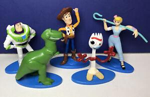Lot of 5 Disney Pixar TOY STORY 4 Cake Toppers 2019 Mattel