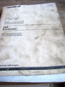 Caterpillar Cat 245 EXCAVATOR Parts Manual 95V471 to Last Built         Lot #980