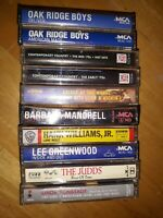 Vintage Classic 80's Country Music Cassette Tapes Lot Of 10